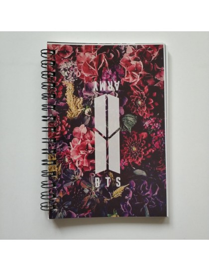 BTS Kırtasiye Not Defteri Çiçek Desen
