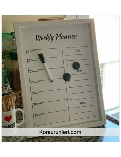 Haftalık Planner Yazı Tahtası
