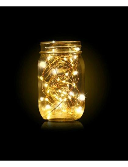 LED Bakır Işık 5 Metre Pilli
