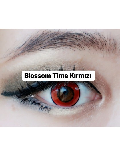 Blossom Time Kırmızı Circle Yıllık Lens