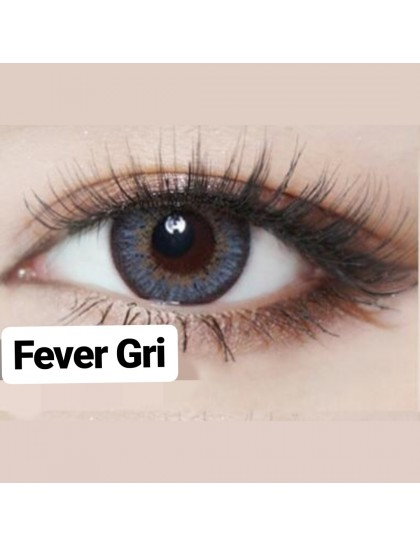 Fever Gri Büyük Göz Circle Yıllık Derecesiz Lens