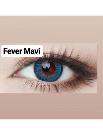 Fever Mavi Büyük Göz Circle Yıllık Derecesiz Lens