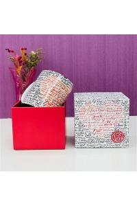100 Dilde Seni Seviyorum Yazılı Kupa Bardak