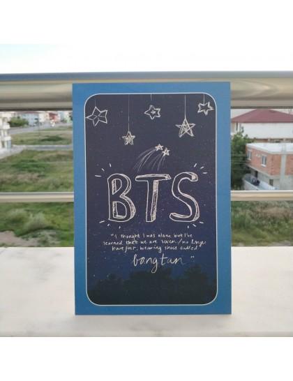 BTS Ahşap Poster Stars