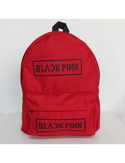 BlackPink Yazılı Kırmızı Sırt Çantası