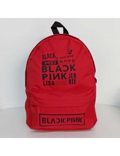 BlackPink Kırmızı Baskılı Sırt Çantası