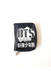 BTS ARMY Baskılı Siyah Hologram Cüzdan