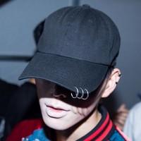 3 Piercing Şapka Siyah