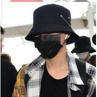 Siyah Piercing  Bucket Şapka