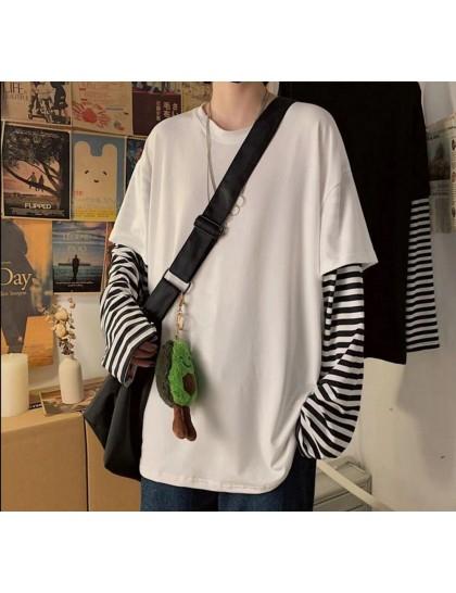 Düz Beyaz Kollar Çizgili T-shirt