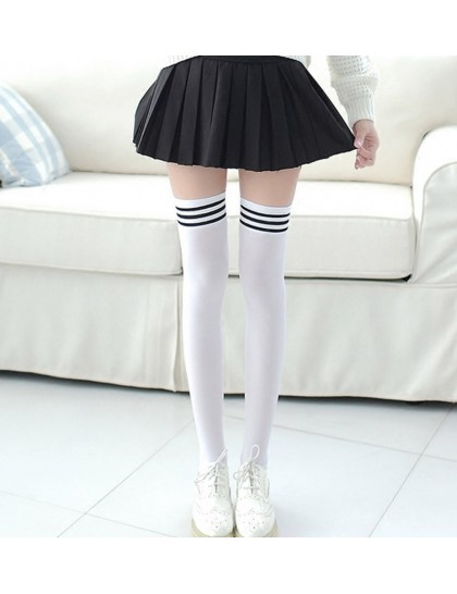 Uzun İnce Diz Üstü Çorap 43 cm Beyaz
