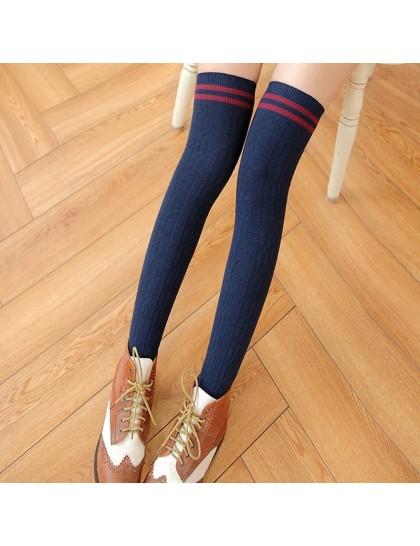 Uzun Kalın Diz Üstü Çorap 60 cm Lacivert